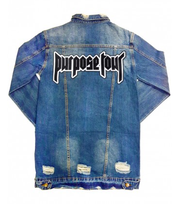 Purpose Tour Patch Embroidered Long Sleeve Jeans Jacket