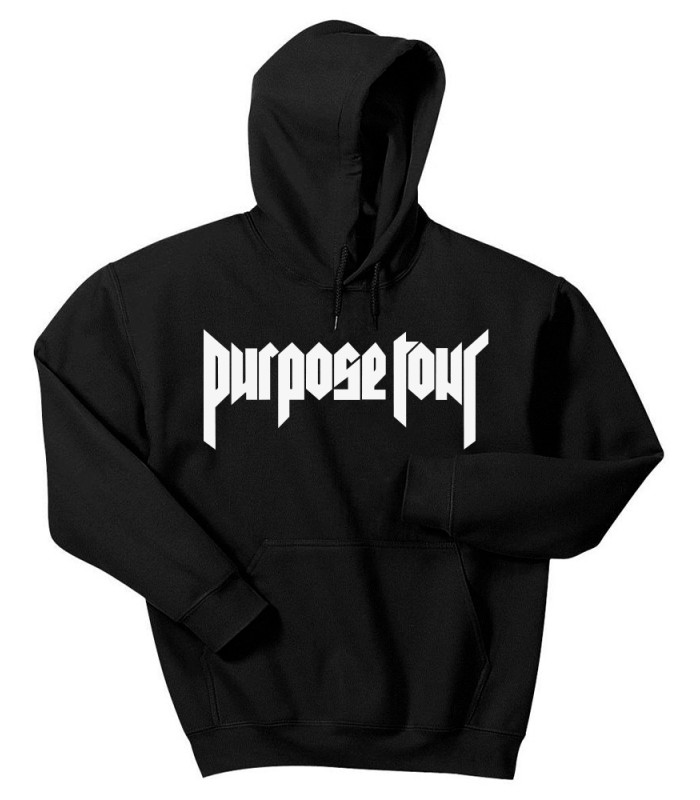 912b2b07a0af Purpose Tour Hoodie Sweatshirt Black Justin Bieber Merch