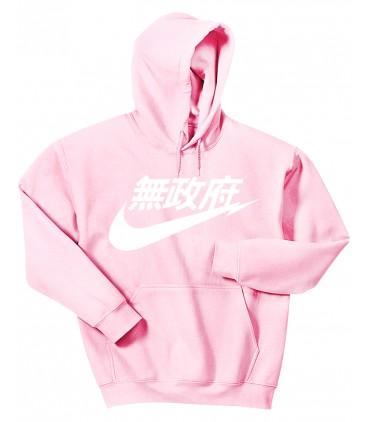 Anarchy Air Japan Hoodie Sweatshirt Pastel Pink