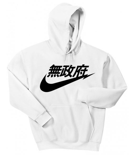 Anarchy Air Japan Hoodie Sweatshirt White