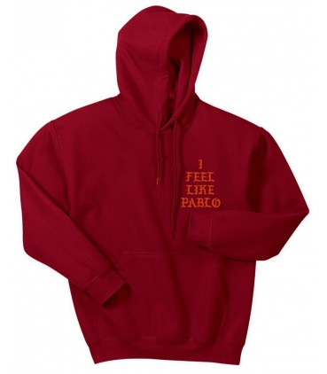 I Feel Like Pablo Sweat à Capuche Rouge Pablo Merch