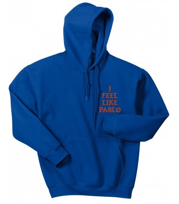I Feel Like Pablo Sweat à Capuche Bleu Pablo Merch