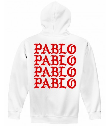 Pablo Sweat à Capuche Blanc Pablo Merch