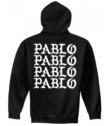 Pablo Sweat à Capuche Noir Pablo Merch