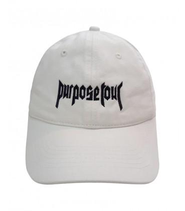Purpose Tour Dad Hat Blanc Cassé Justin Bieber Merch