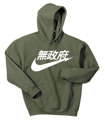 Anarchy Air Japan Hoodie Sweatshirt Military Green