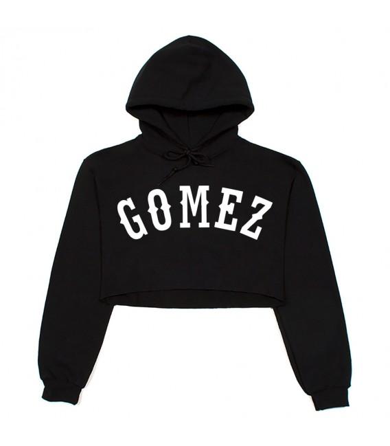 Gomez Crop Top Capuche Noir Selena Gomez Merch