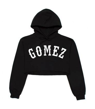 Gomez Crop Top Sweatshirt Schwarz Selena Gomez Merch