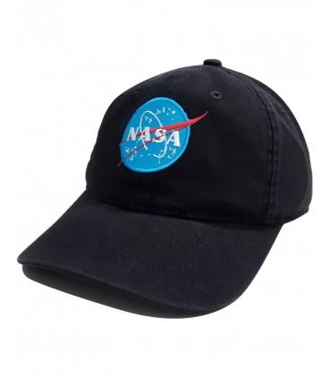Nasa Space Agency Patch Brodé Casquette Blanc Cassé/Noir