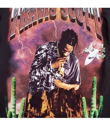 Travis Scott Birds Eyes View Tour Merch T-Shirt Noir