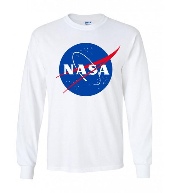 Nasa Space Agency T-Shirt Long Sleeves White