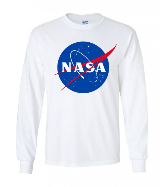 Nasa Space Agency T-Shirt Manches Longues Blanc
