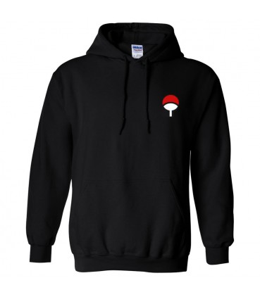 Uchiha Clan Sweat à Capuche Noir