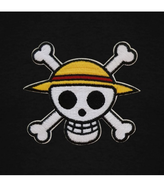 One Piece Patch Tee Black