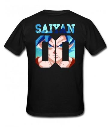 Saiyan Number Back Sangoku SSGSS T-Shirt Noir