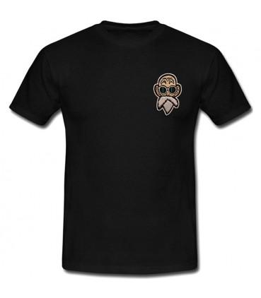 Patch Tortue Géniale T-Shirt Noir Kamé Sennin