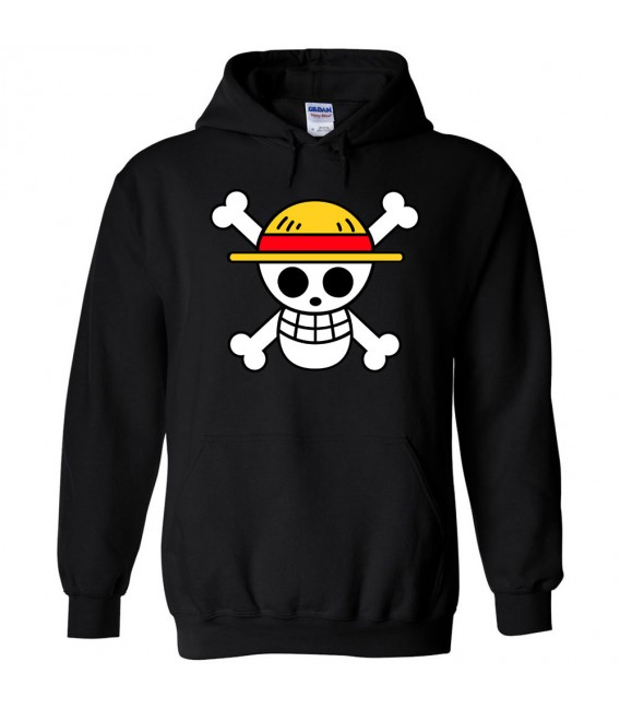 One Piece Hoodie Black Luffy