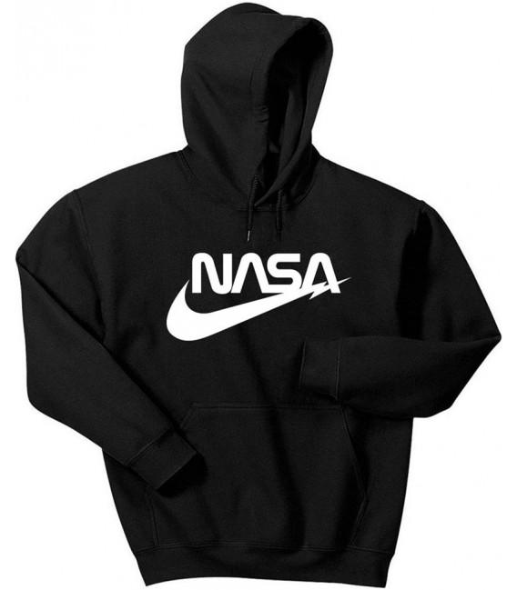 Air NASA Space Agency Hoodie Black