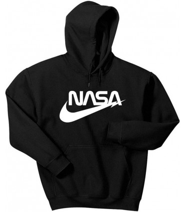 Air NASA Space Agency Sweat à Capuche Noir