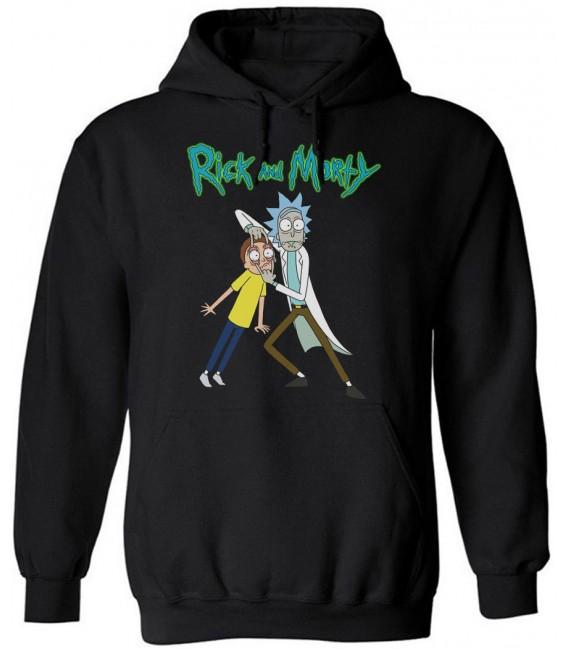 Rick And Morty Sweat à Capuche Noir