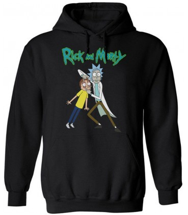 Rick And Morty Kapuzenpullover Schwarz