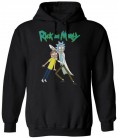 Rick And Morty Hoodie Black