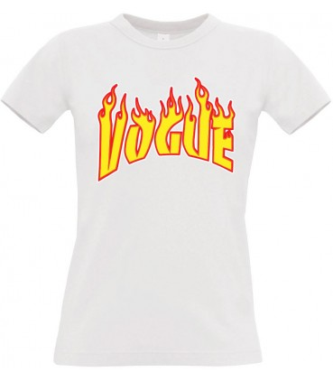 Vogue Flame Women Tee Black / White