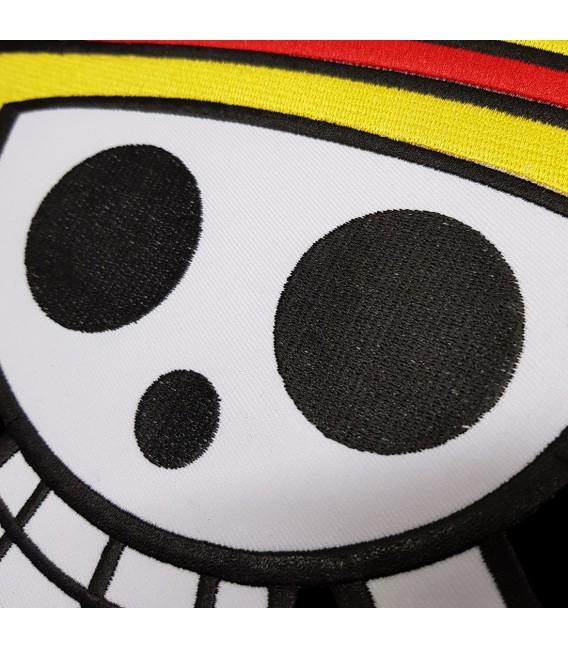 One Piece Grand Patch Sweat à Capuche Noir