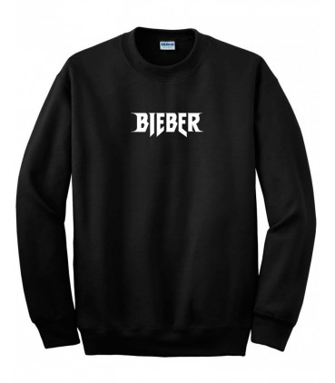 Bieber Sweatshirt Noir Purpose Tour Merch