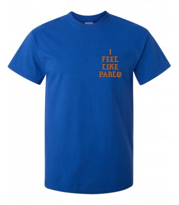 I Feel Like Pablo T-Shirt Bleu Pablo Merch