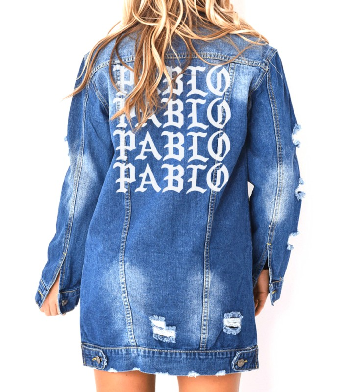 les ventes chaudes b043b 36b41 Pablo Patch Embroidered Long Sleeve Jeans Jacket