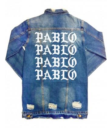 Pablo Veste En Jeans Destroy Longue Femme