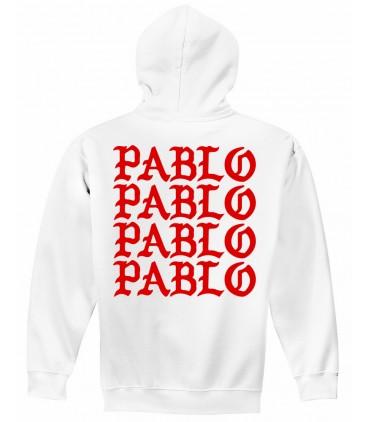 Pablo Sweat à Capuche Blanc Pablo Merch
