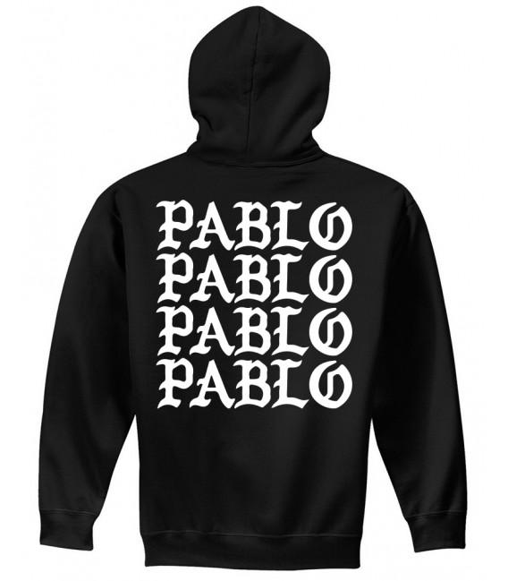 Pablo Sweat à Capuche Noir Pablo Merch