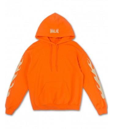 Kylie Flames Sweat à Capuche Orange Kylie Jenner Merch