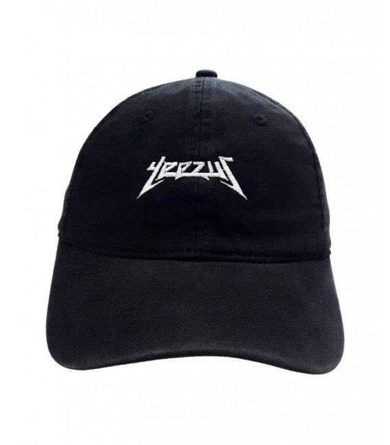 Yeezus Dad Hat Black Kanye West Merch