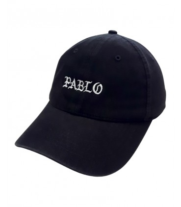 Pablo Dad Hat Noir Kanye West Merch
