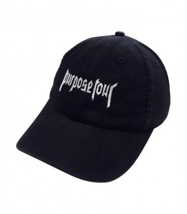 Purpose Tour Dad Hat Noir Justin Bieber Merch