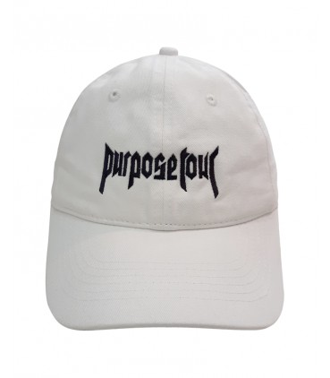 Purpose Tour Dad Hat Blanc Cassé Justin Bieber Merch