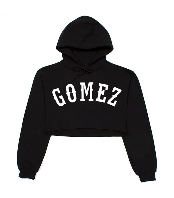 Gomez Crop Top Sweatshirt Black Selena Gomez Merch