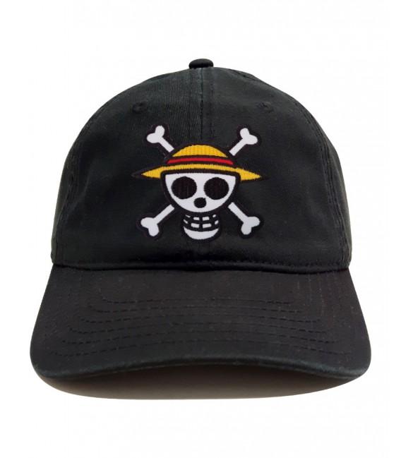 One Piece Patch Dad Hat Black
