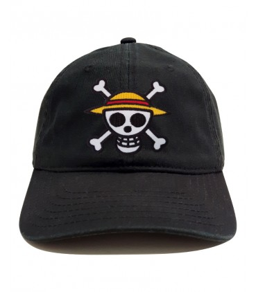 One Piece Patch Dad Hat Black