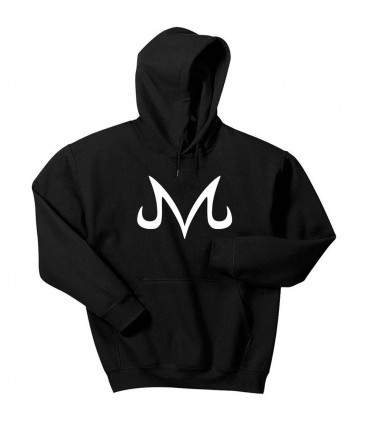 M Majin Vegeta Hoodie Black Dragon Ball Z