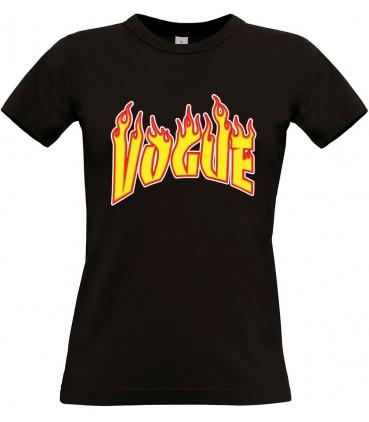 Vogue Flame T-Shirt Femme Noir / Blanc