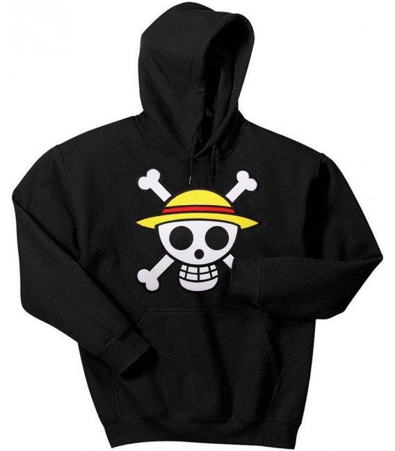 One Piece Grand Patch Sweat à Capuche Noir