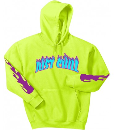 Just Chill Sweat à Capuche Jaune Fluo