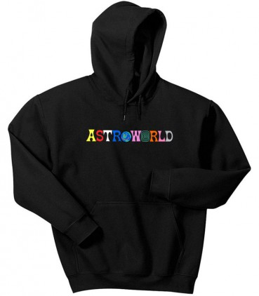 Astroworld Sweat Capuche Noir - Travis Scott Sweat