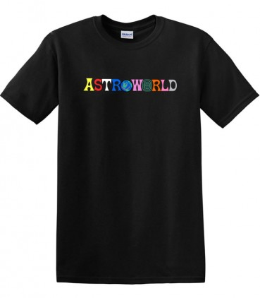 Astroworld Tee Black - Travis Scott Merch
