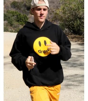 Justin Bieber Drew Hoodie Black