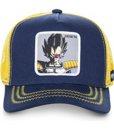 Casquette Trucker Dragon Ball Z Vegeta Bleu Marine